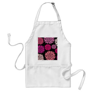 Pretty Pink and Purple Flowers on Black Aprons
