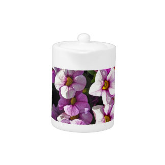 Pretty pink and purple petunias floral print