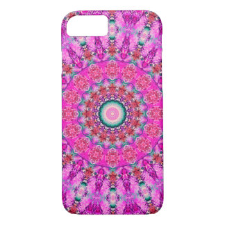 Pretty Pink and Red Mandala iPhone 8/7 Case