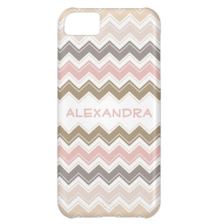Pretty Pink and Rose Pastels Retro Chevron Pattern iPhone 5C Case