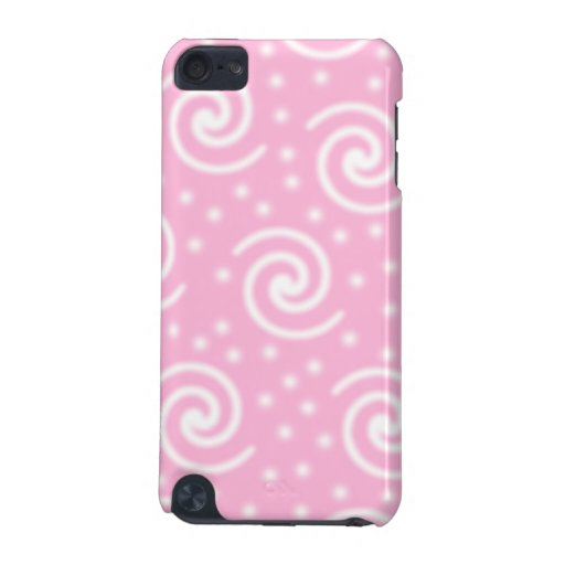 Pretty Pink and White Swirls and Dots. iPod Touch (5th Generation) Cases