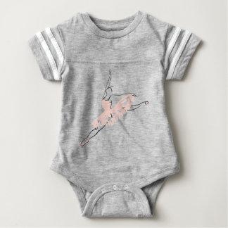 Pretty Pink Ballerina Baby Bodysuit