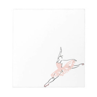 Pretty Pink Ballerina Notepad
