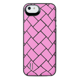 Pretty Pink Basket Weave 2 iPhone SE/5/5s Battery Case