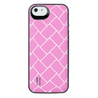 Pretty Pink Basket Weave iPhone SE/5/5s Battery Case