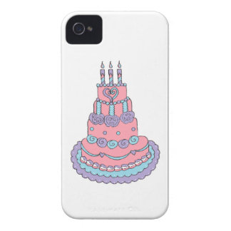 Pretty Pink Birthday Cake Case-Mate iPhone 4 Case