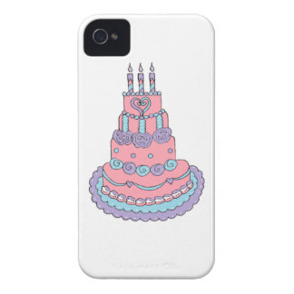 Pretty Pink Birthday Cake Case-Mate iPhone 4 Cases
