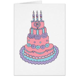 Pretty Pink Birthday Cake Greeting Card