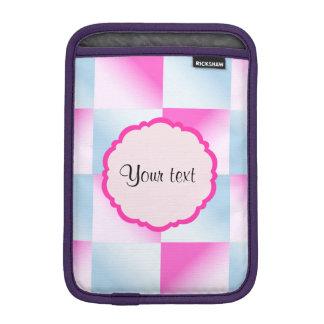 Pretty Pink & Blue Gradient Squares iPad Mini Sleeve