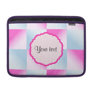 Pretty Pink & Blue Gradient Squares MacBook Sleeve