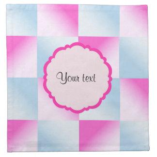 Pretty Pink & Blue Gradient Squares Napkin