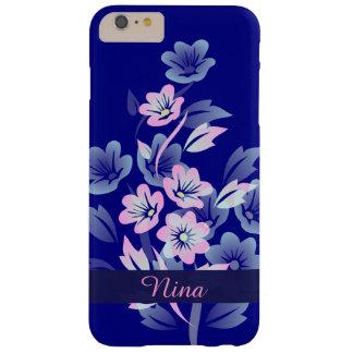 Pretty Pink Blue Monogram iPhone 6 Plus Case