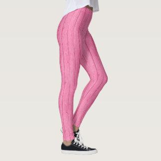 Pretty Pink Board Print Feminine Leggings