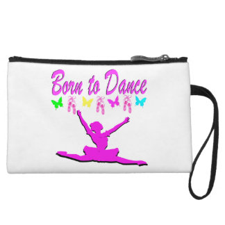 PRETTY PINK BORN TO DANCE BALLERINA DESIGN WRISTLET PURSE