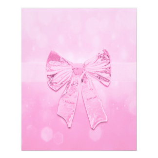 Pretty Pink Bow 11.5 Cm X 14 Cm Flyer