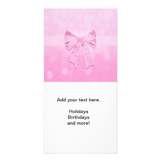 Pretty Pink Bow Photo Card