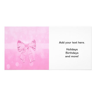 Pretty Pink Bow Photo Cards