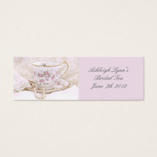 Pretty Pink Bridal Tea Favor Tag Business Card