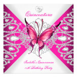 Pretty Pink Butterfly Tiara Quinceanera 15th Party