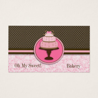 Pretty Pink Cake Bakery : Business Cards