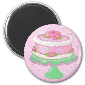 Pretty Pink Cake Fridge Magnet