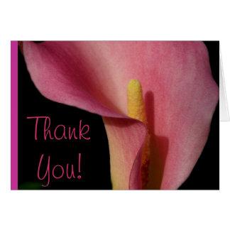 Pretty Pink Calla Lily Card