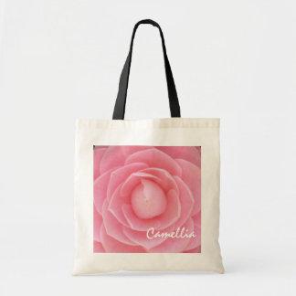 Pretty Pink Camellia Budget Totebag
