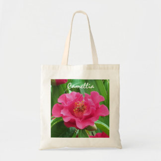 Pretty Pink Camellia Budget Totebag Canvas Bags