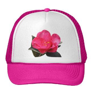 pretty pink camellia flower hat