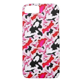 Pretty Pink Camo Abstract iPhone 7 Case