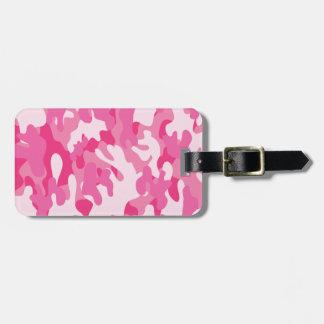 Pretty Pink Camo Luggage Tag