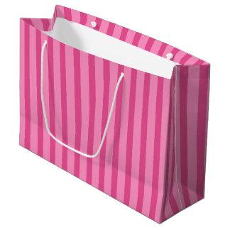 Pretty Pink Candy Stripe Gift Bag