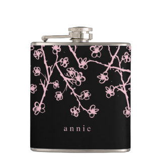 Pretty Pink Cherry Blossoms Flask