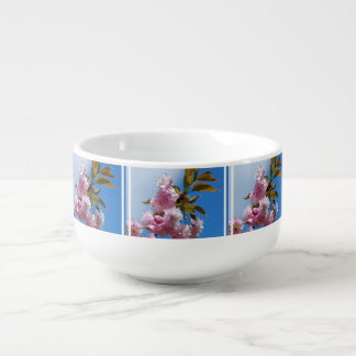 Pretty Pink Cherry Tree Soup Bowl With Handle