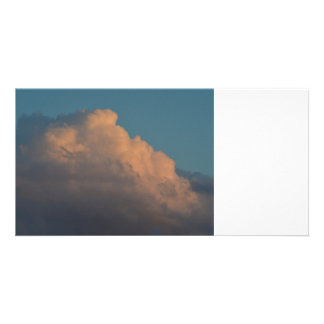 pretty pink cloud formation florida photo card