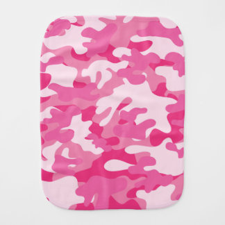 Pretty Pink Colors Camouflage Pattern Burp Cloth