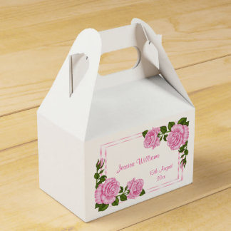 Pretty Pink Corner Bouquets 18th Birthday Favour Box
