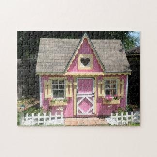 Pretty Pink Cottage Puzzle 252 piece puzzle Puzzle