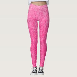 Pretty Pink Cotton Candy Plush Leggings