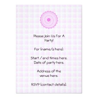 Pretty Pink Cupcake. 17 Cm X 22 Cm Invitation Card