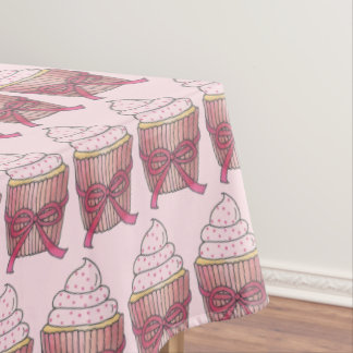 Pretty Pink Cupcake Cake Bridal Shower Birthday Tablecloth