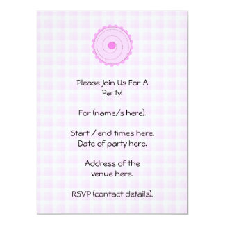 Pretty Pink Cupcake. Personalized Invitations