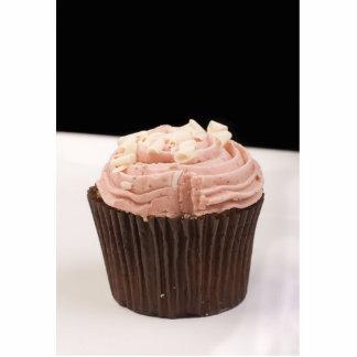 Pretty Pink Cupcake Photo Sculpture Key Ring