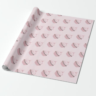 Pretty Pink Cupcake Wrapping Paper