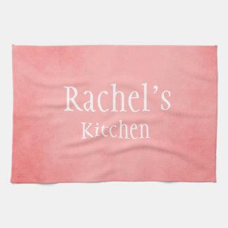 Pretty Pink Custom Name Tea Towel