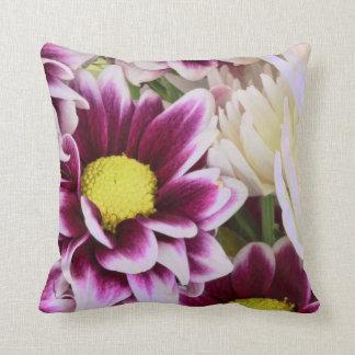 Pretty Pink Dahlia Bouquet Throw Pillow