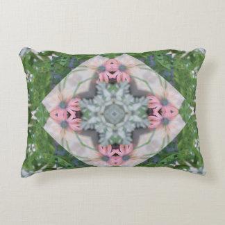 Pretty Pink Daisies Mandala Decorative Cushion