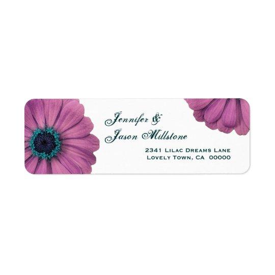 Pretty Pink Daisies Return Address Label