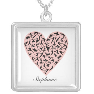 Pretty Pink Dance Heart Personalised Necklace