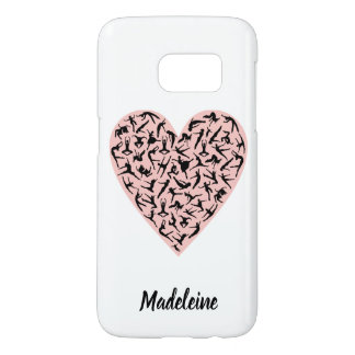 Pretty Pink Dance Heart Samsung S7 Case